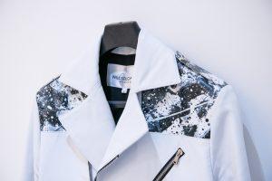 BLACK ICE – HAND PAINTED LAMBSKIN BIKER JACKET