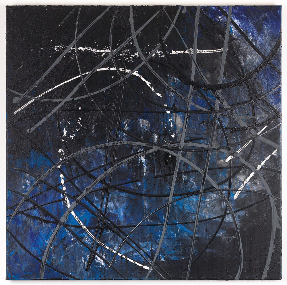THE MIDNIGHT ZONE 100 x 100 cm Mixed media on canvas