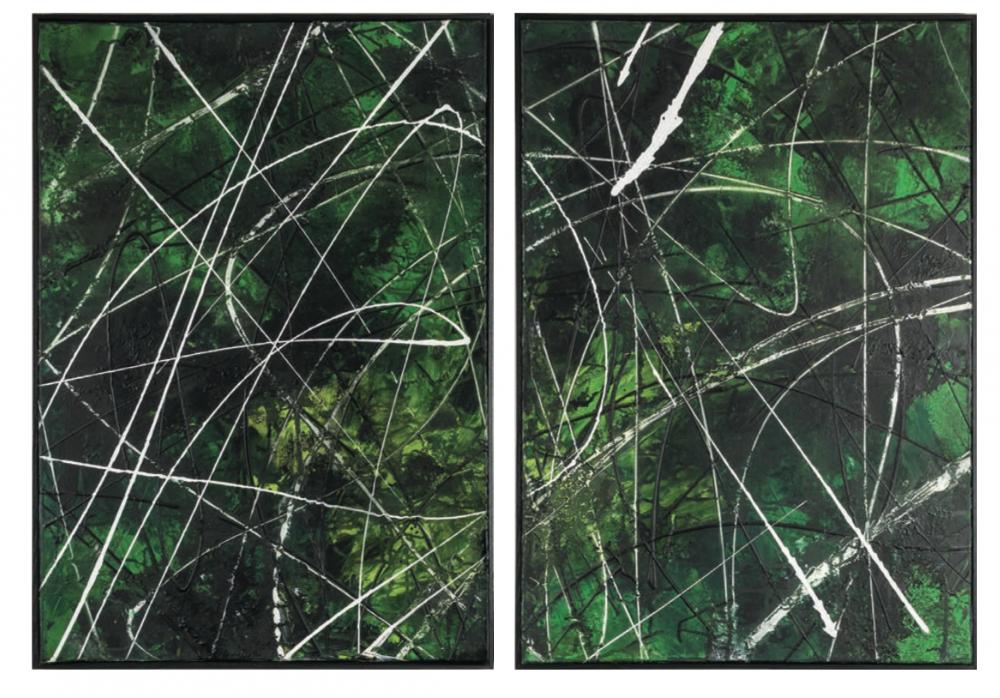 HAVANA Diptych 100 x 144 cm Mixed media on canvas
